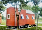 EU Standard Pre-made Prefabricated Light Steel Structure Tiny House On Wheels With Trailer