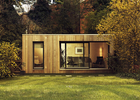 CFC Board Ceiling Prefab Garden Studio Wooden House Kit With WPC Wall Cladding