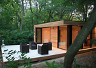 Beautiful Prefab Garden Studio WPC Cladding With Double Glass Windows