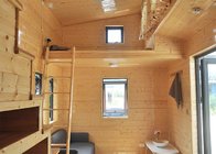 Light Steel Prefabricated Luxury Tiny House On Wheels And 3 Bedroom Micro Prefab Eco House