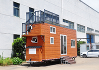 Light steel frame Prefab Tiny Homes On Wheels Orlando the best tiny home airbnb for stargazing with rooftop decking