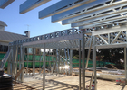 AZ150 Coating Insulation Galvanized ALC Panel Prefab Steel House
