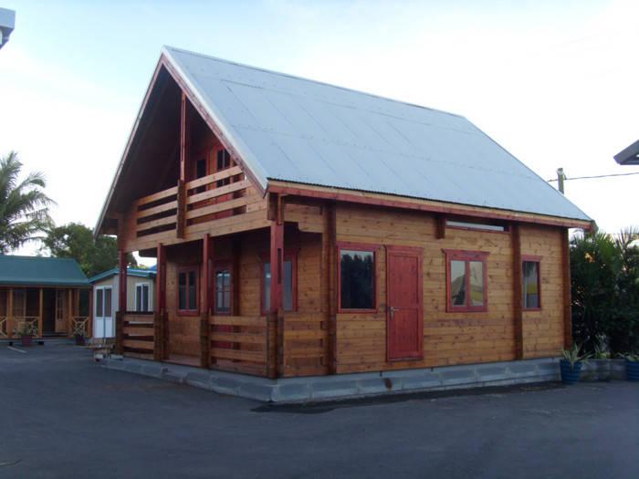 Bungalow de madeira das casas modulares do estilo bungalow for Case modulari in stile bungalow