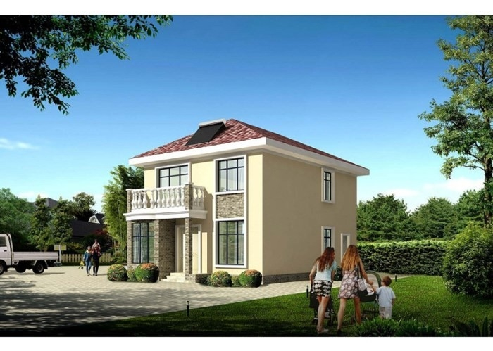 House Prefabricated Two Floors Prefab Steel House With