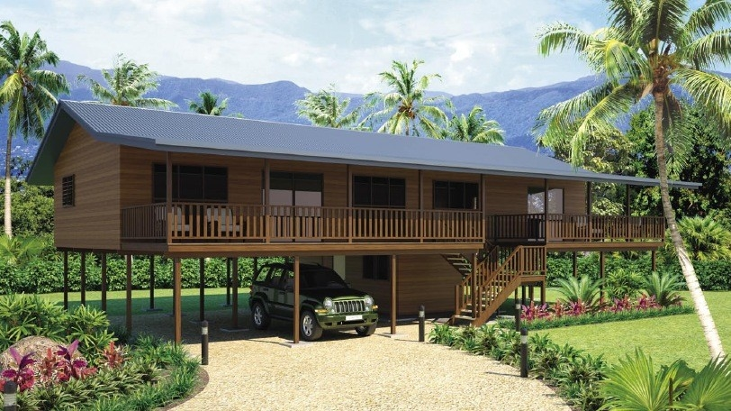 Holiday Living Home Beach Bungalows , Wooden Bungalow With Light Steel Frame
