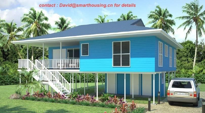 Casa de planta baja prefabricada de dos pisos for Pisos en la playa