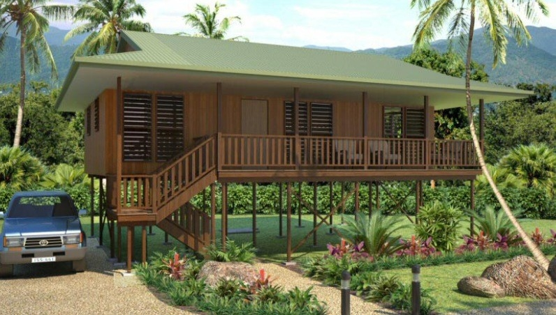 Light Steel Framing Wooden Bungalow /  High Acoustic Insulation Home Beach Bungalows