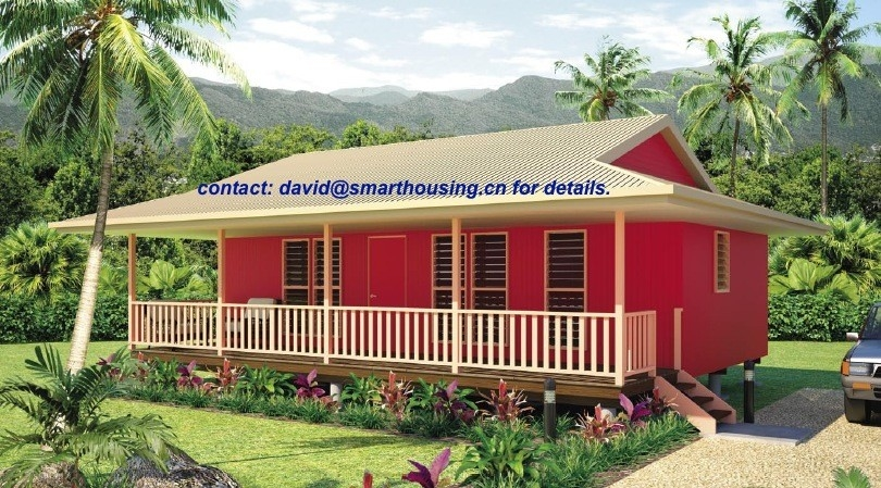Moistureproof Home Beach Bungalows , Fireproof Wooden House Bungalow