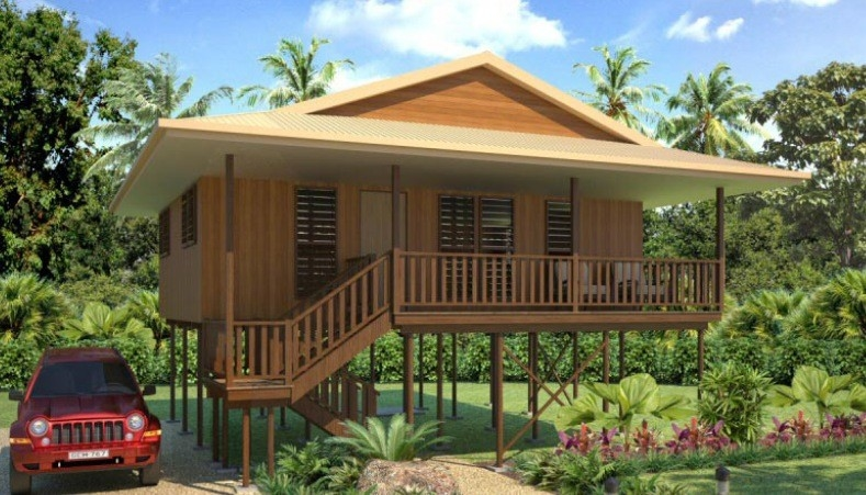 Hot-Sale Prefab Light Steel Structure  Holidays Thailand Wooden House Bungalow With 3 Bedrooms