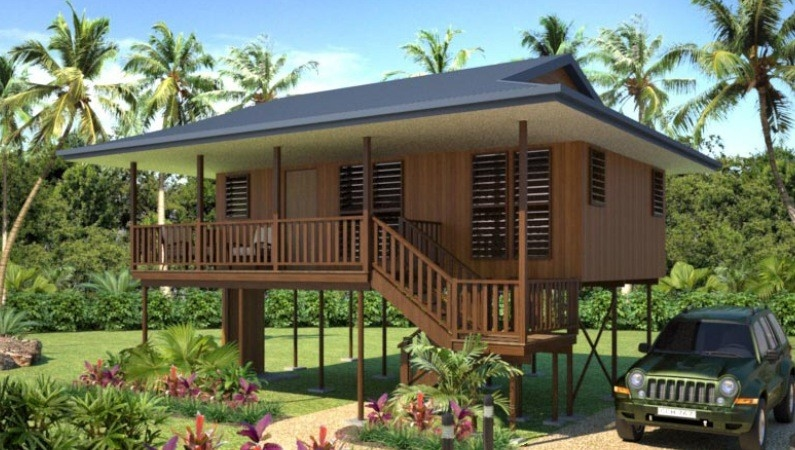 new design Moistureproof Wooden House Bungalow SAA Home Beach