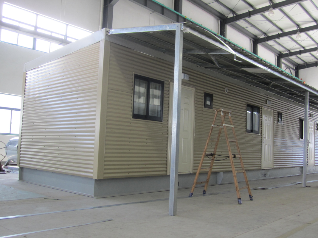 Light Steel Fully Decorated Finished Bunk Prefabricated House/ Yellow Contemporary Modular Homes