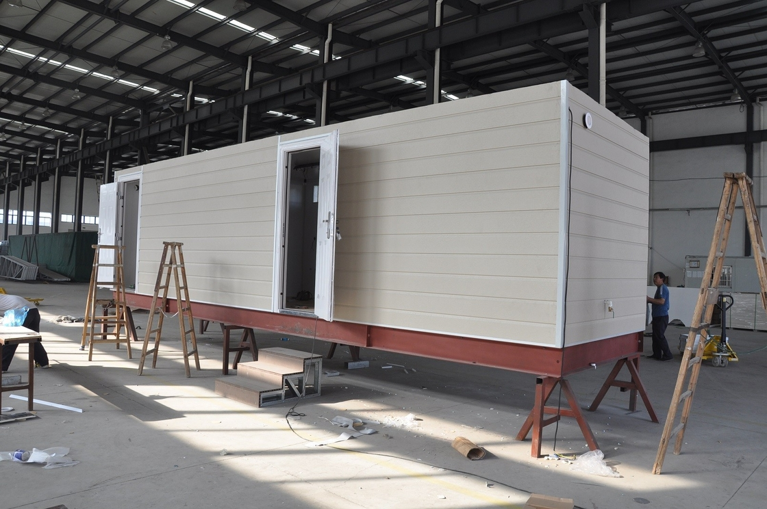 Prefab Mobile Cabin House / Steel Frame Prefab Modular Homes For Guard House