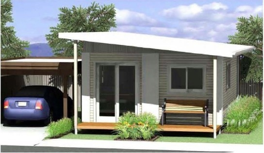 Modern integrated Bungalow house , Prefab Modern Homes , Australia Granny flat