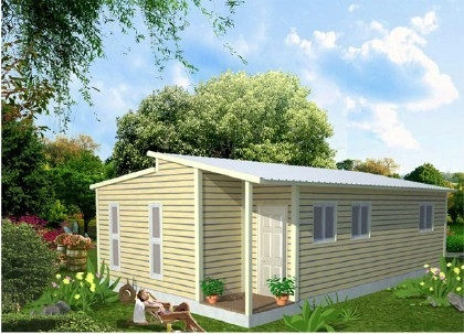 Light Steel Structure Frame Construction Prefabricated Granny Flat Homes