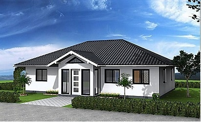 Hurricane Resist Prefabricated Bungalow , Steel Structure Bungalow House