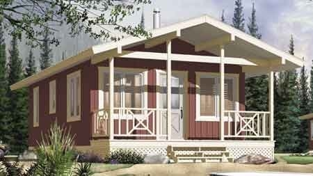 Long Life Prefab Bungalow Homes , Affordable Prefabricated light steel  Homes For Living