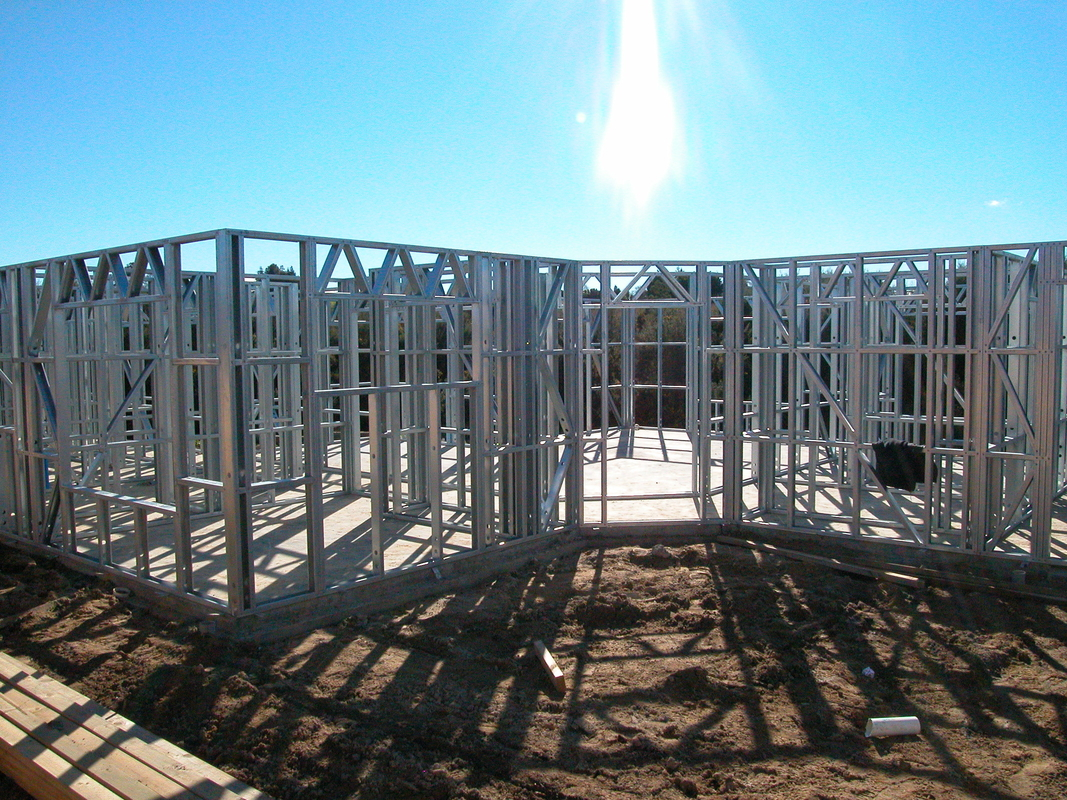 Light Gauge Steel Framing House Structure , Quick Installation Light Steel Frame Housing