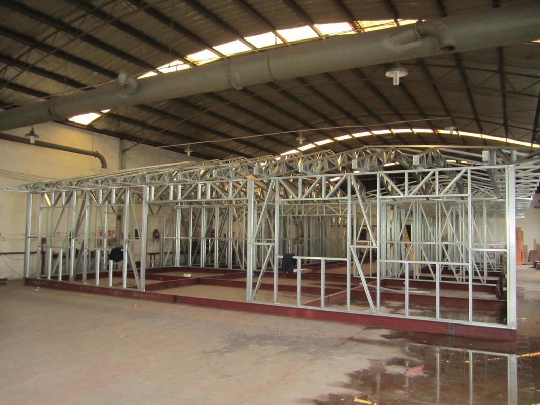 Light Steel Structure Frame Houses, 1 bedroom prefab metal Steel Frame Small House