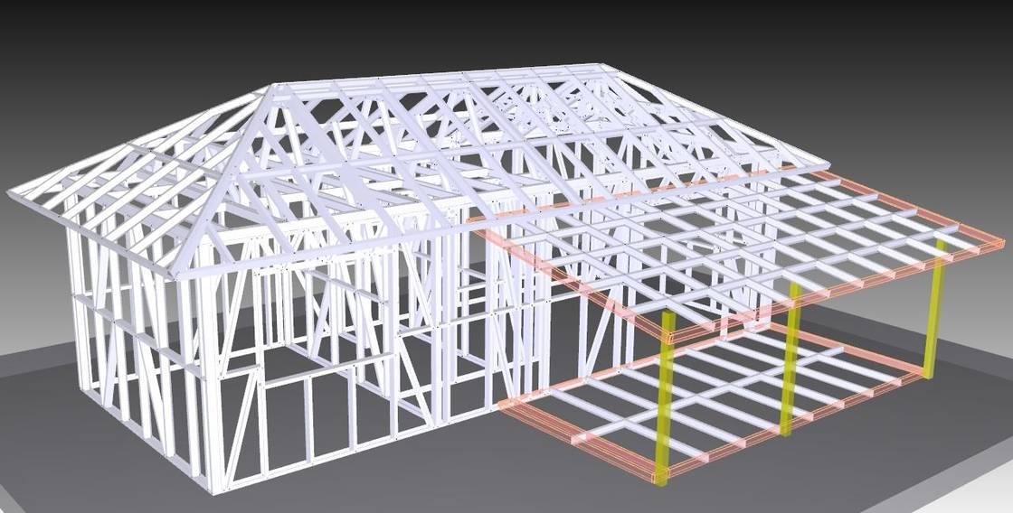 Casa de planta baja ligera de la estructura de acero casa - Estructuras de acero para casas ...