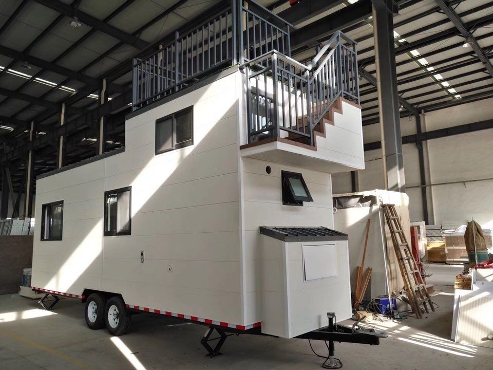 Light Steel Trailer tiny homes / Caravan / Modular house on wheels / Movable mobile homes