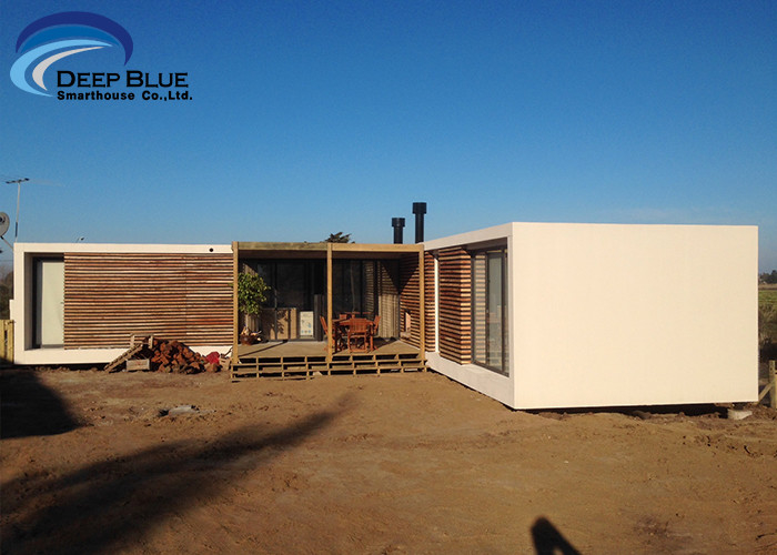 Steel Structure Modern prefabricated Houses , Uruguay Bungalow Home Plans