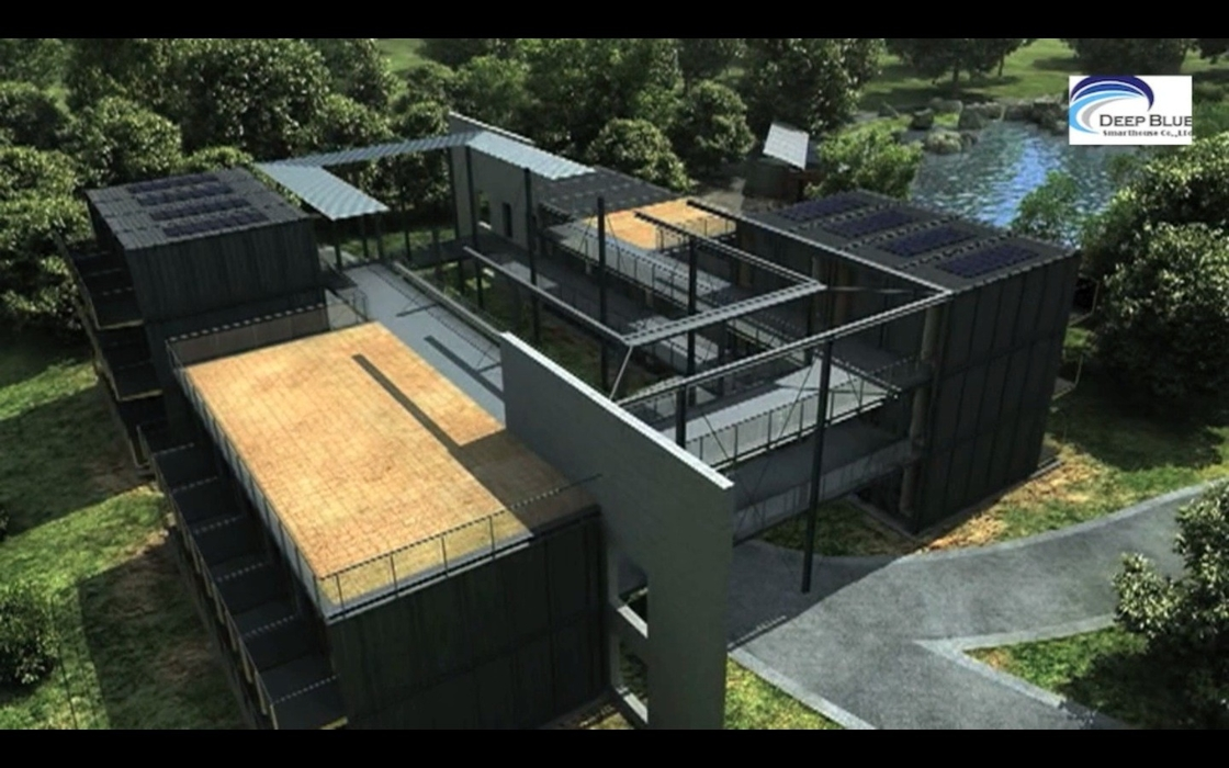 Solar panel prefab container homes fully finished movable for House panels prefabricated