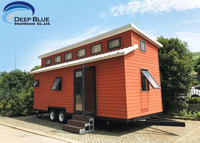 Austrilia Standard Light Steel Prefabricated Tiny House On Wheels With WPC Board Wall