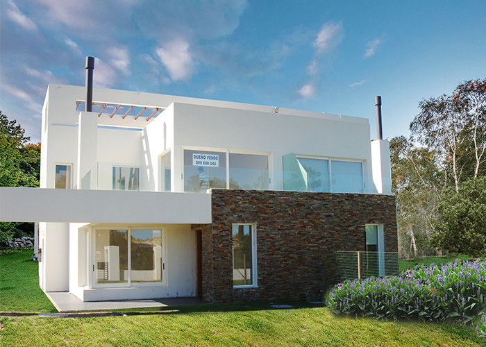PVC Sliding Windows Prefab Villa Steel Frame House With Beautiful Decoration