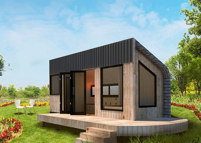 Lightweight Wpc Flooring Prefabricated Tiny House Engineered Framing System