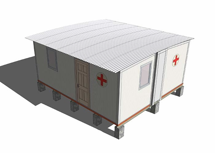 Portable Emergency Mobile Field Hospital Anti Epidemic Camp With Sandwich Panel Wall