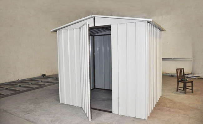 China White Moisture Proof Construction Steel Metal  Shelters / Car Sheds