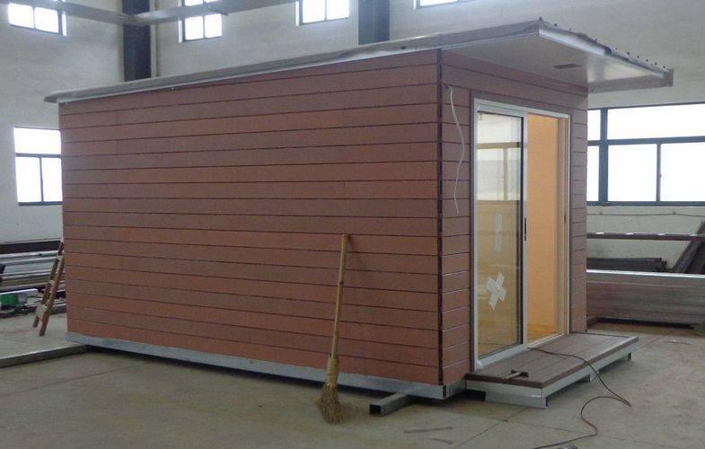 Light steel structure holiday home prefabricated garden for Prefab garden studio