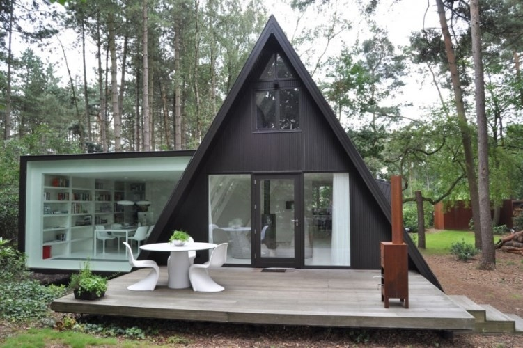 Prefab House Kits , Modern Light Steel Frame Bungalow,Holiday resort triangle house, mobile house,wooden house