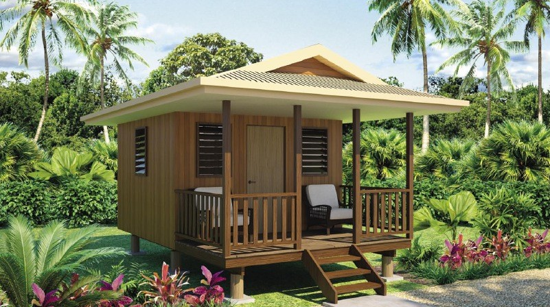 Quick Assemble Light Steel Guage Frame Prefab Home Beach Customized Bungalows