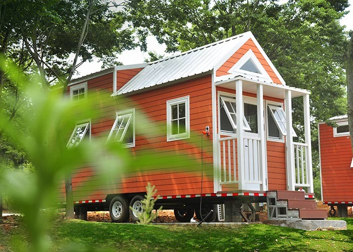 Modern Color Small Modern Prefab Homes Prefabricated Tiny House With Trailer