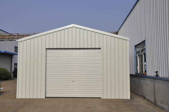 Prefabricated Metal Car Sheds / Car Parking Shed With Light Weight