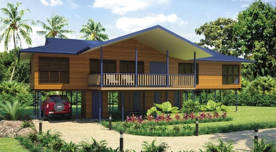 Bali Prefabricated Wooden Houses / ETC Home Beach Bungalows For Holiday Living